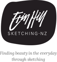 Erin Hill Sketching New Zealand