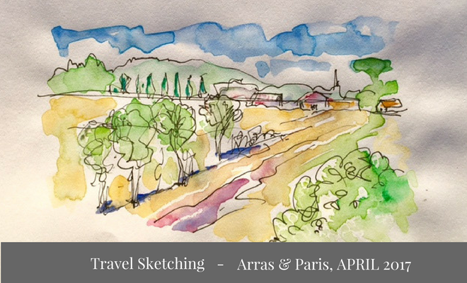 Sketches from my travel to Arras, France – April 2017